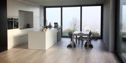 Moderne nieuwbouw houtskelet te Dilbeek