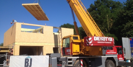 Nieuwbouw houtskelet te Herzele