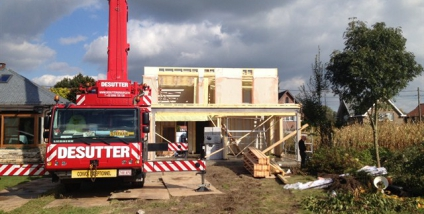 Nieuwbouw houtskeletbouw te Dendermonde (Oost-vlaanderen)