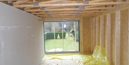 Aanbouw met houtskeletbouw te Gent / Gent-Brugge
